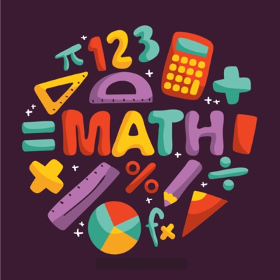 """""""Math"""" written in the center and mathematical symbols around it for special needs children"""